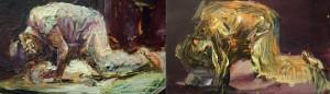Studio 15, diptych, oil on canvas, 24