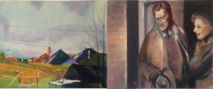Time Frame 1, diptych, oil on canvas, 40