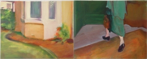 Time Frame 2, diptych, oil on canvas, 40