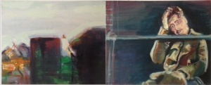 Time Frame 4, diptych, oil on canvas, 40